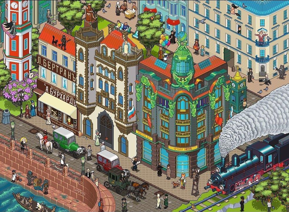 Пиксель-арт на тему 16 произведений классиков русской литературы